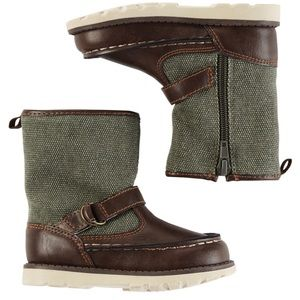 New Carters Gavin Ankle Boot Brown Green Toddler 6